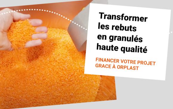 ORPLAST : Un soutien financier pour recycler vos carottes/rebuts.